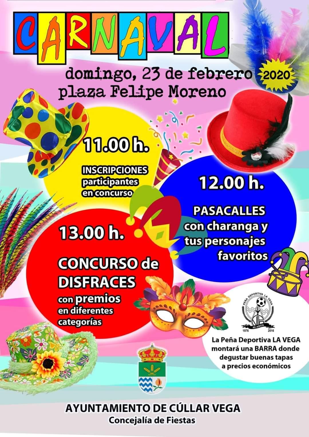 Cúllar Vega celebrará su carnaval con un gran concurso de disfraces