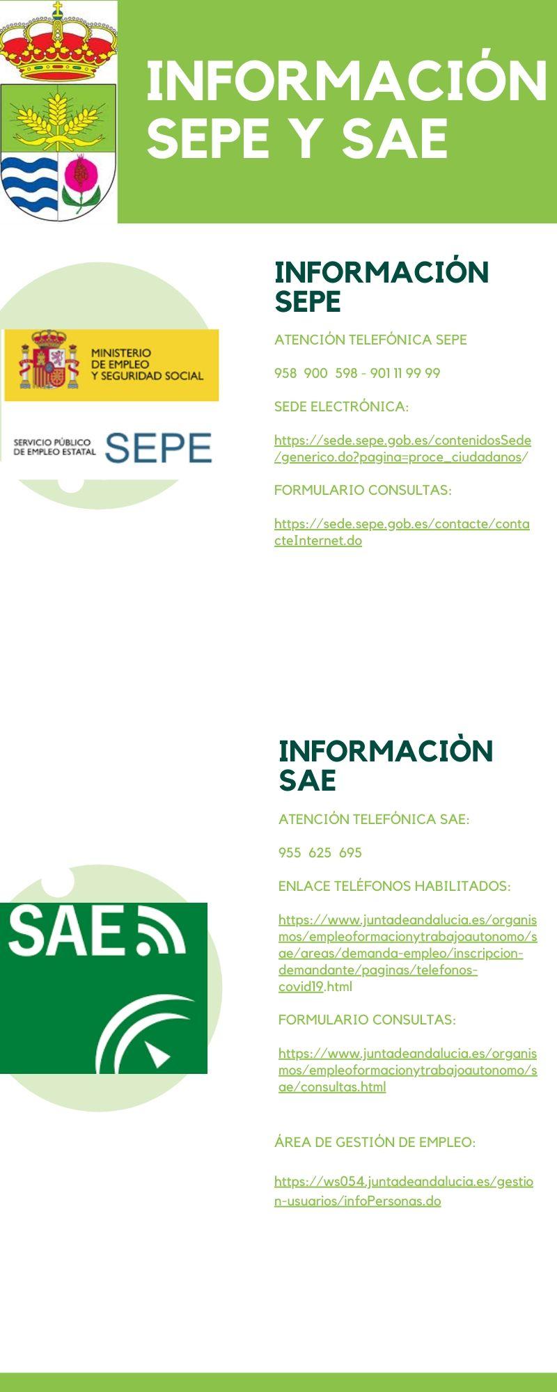 Información sobre Servicio Público de Empleo Estatal y Servicio Andaluz de Empleo