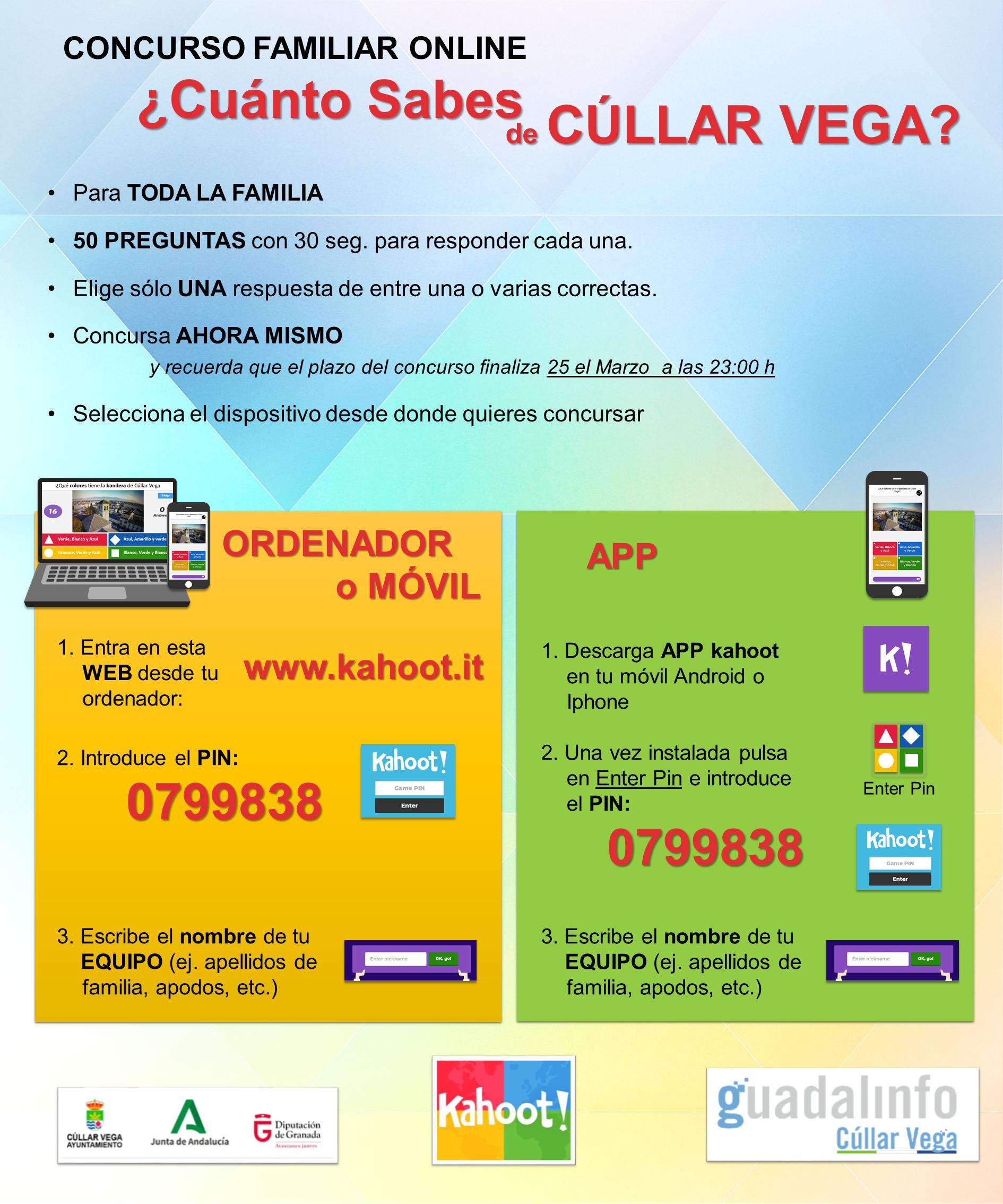 Participa en el Concurso Familiar ¿Cuánto sabes de Cúllar Vega?