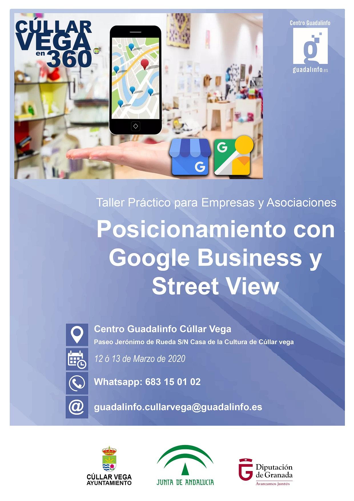 Taller de posicionamiento con Google Business y Fotos 360º con Street View