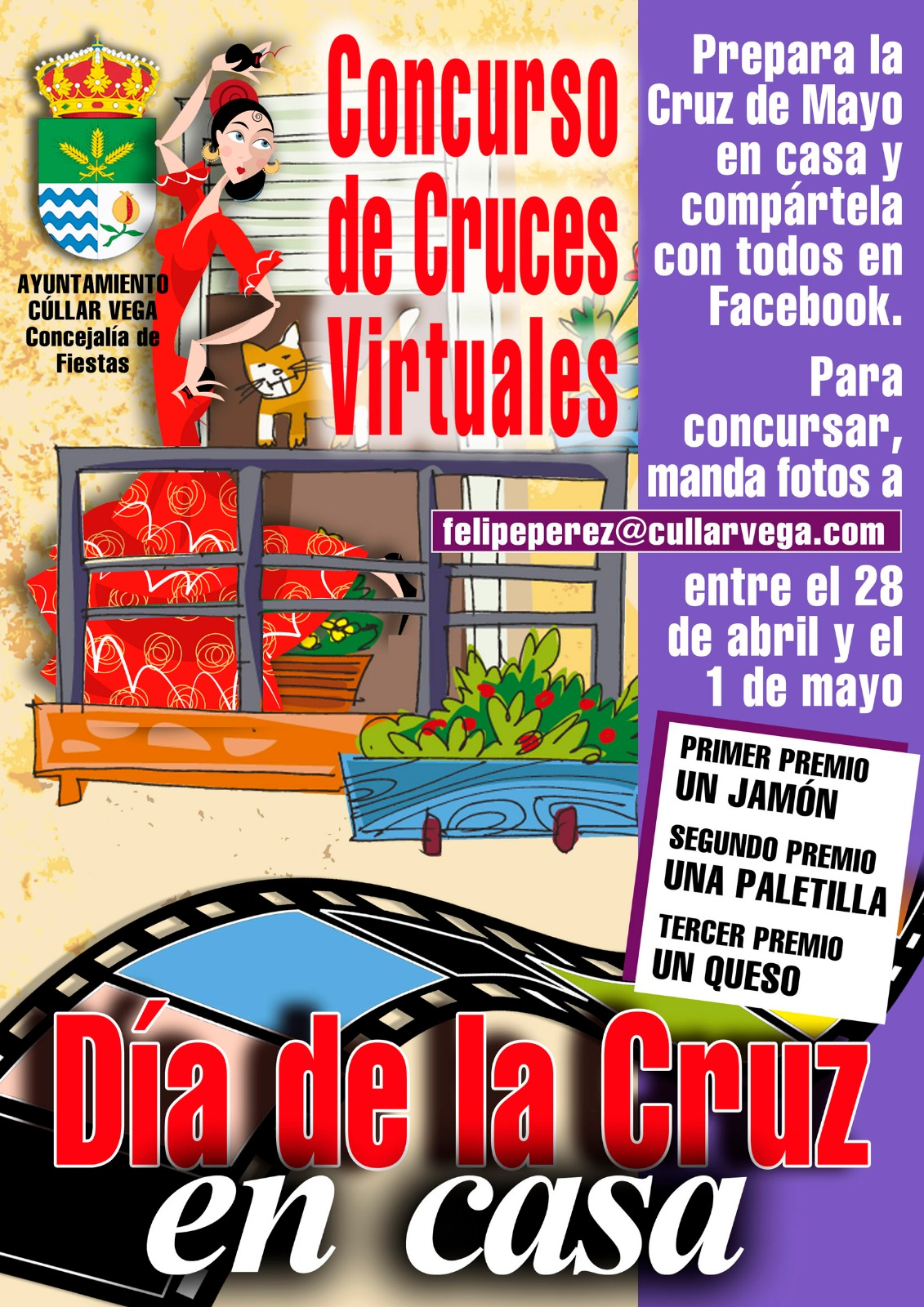 Cúllar Vega organiza un concurso de Cruces de Mayo virtuales para mantener viva la tradición