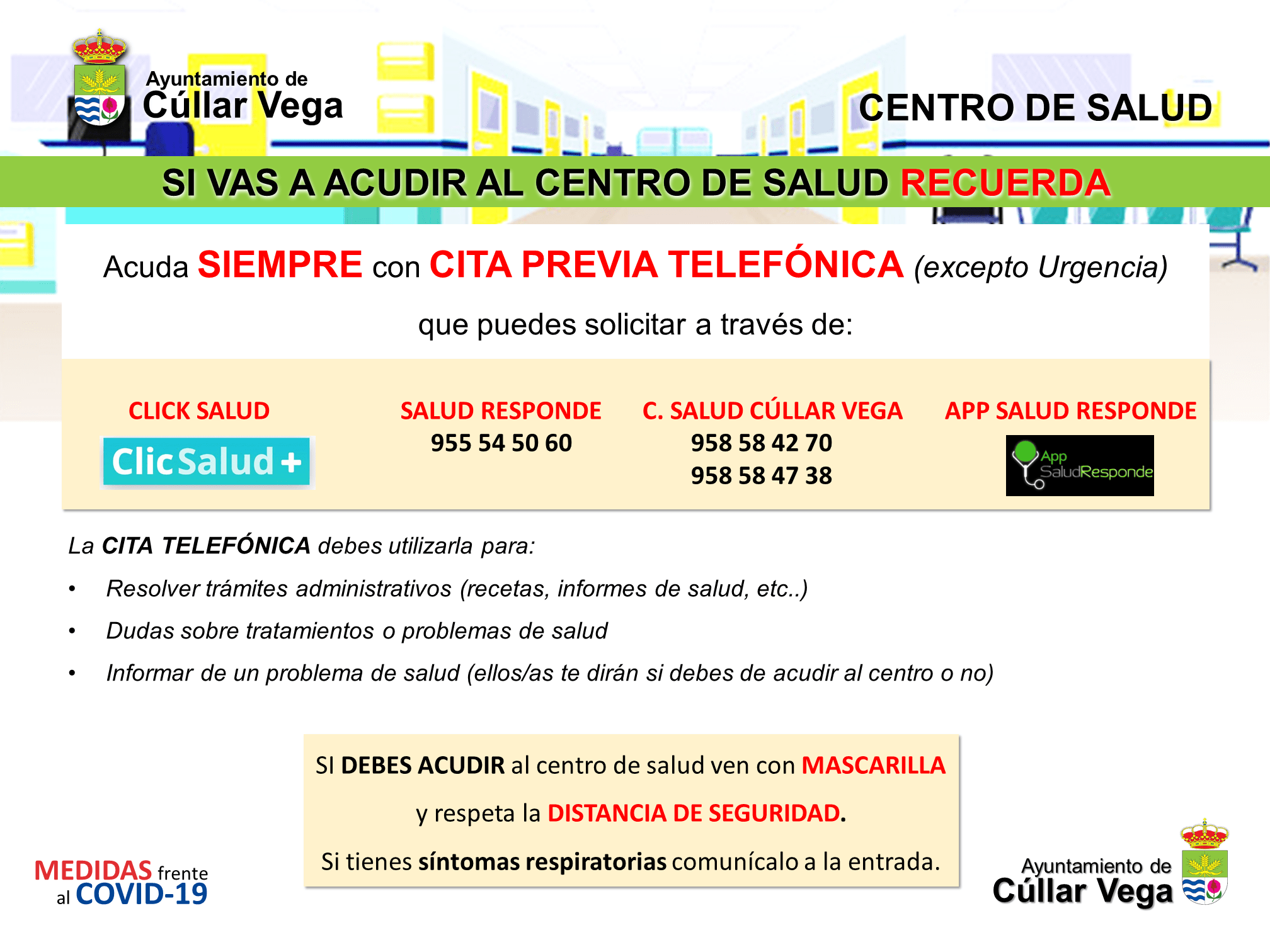 Reapertura del Centro de Salud de Cúllar Vega