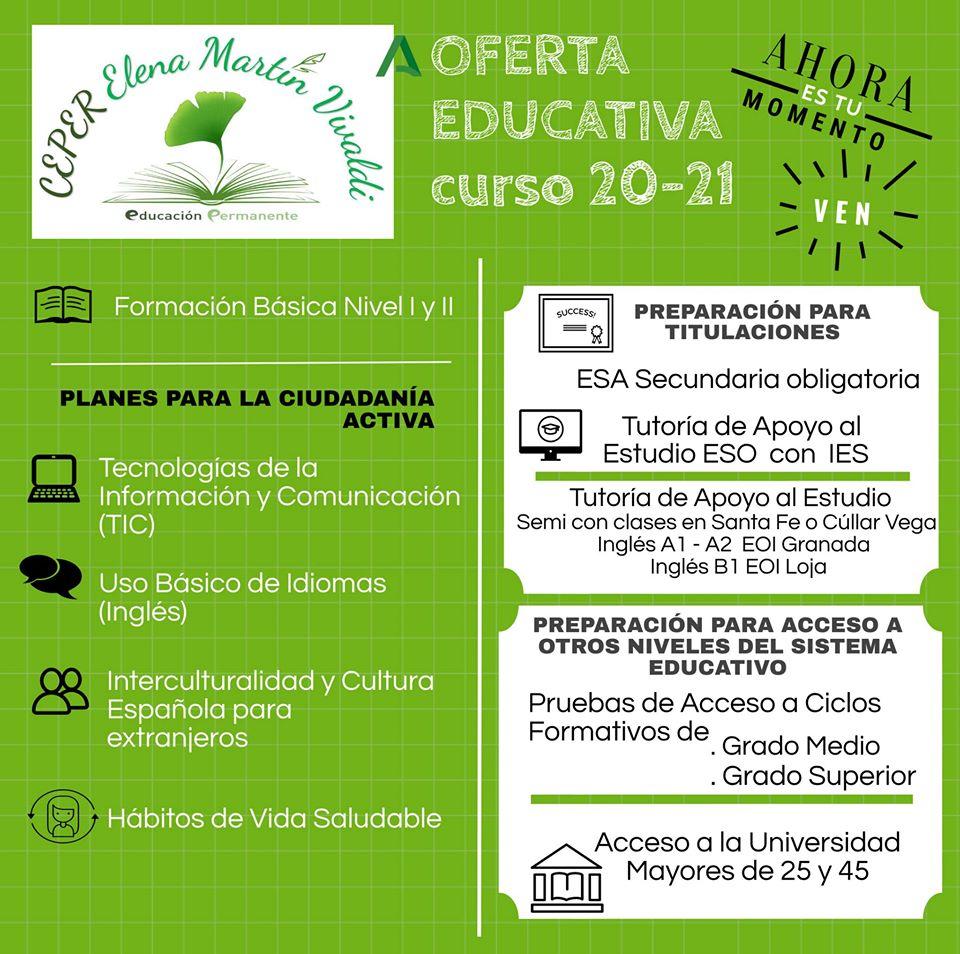 Oferta Educativa Centro de Educación Permanente Curso 2020/2021