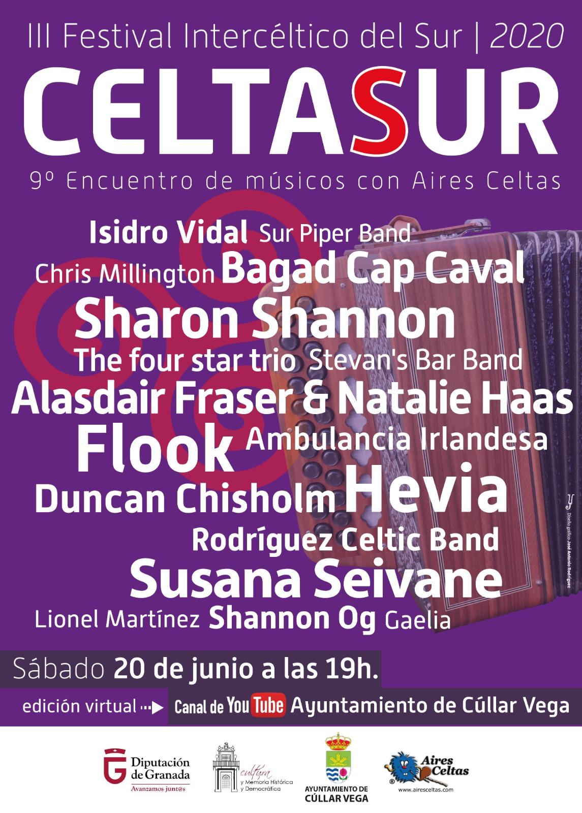 Cúllar Vega celebra mañana 'on line' su III Festival Intercéltico del Sur Celtasur