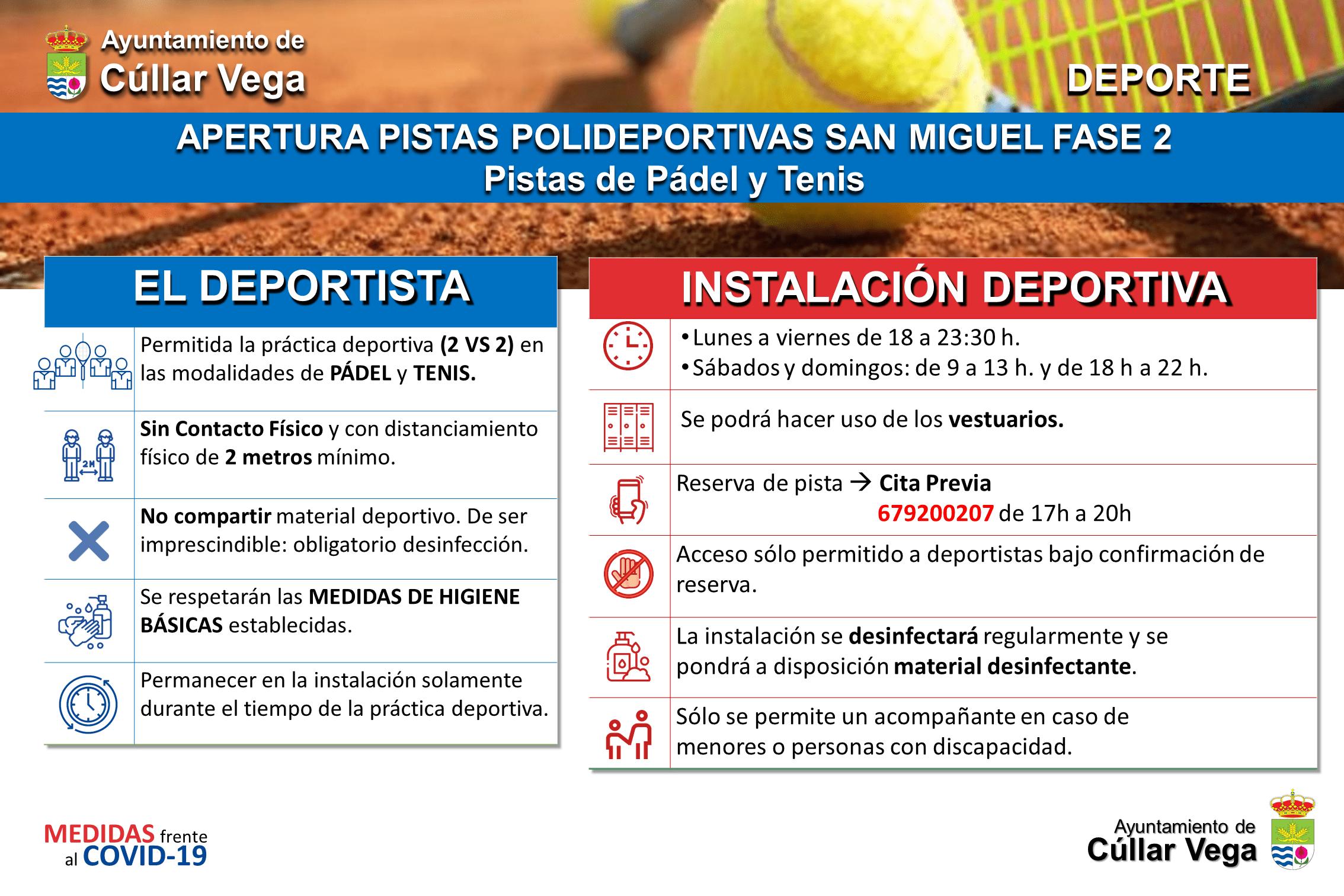 Pistas de Pádel y Tenis en el Polideportivo
