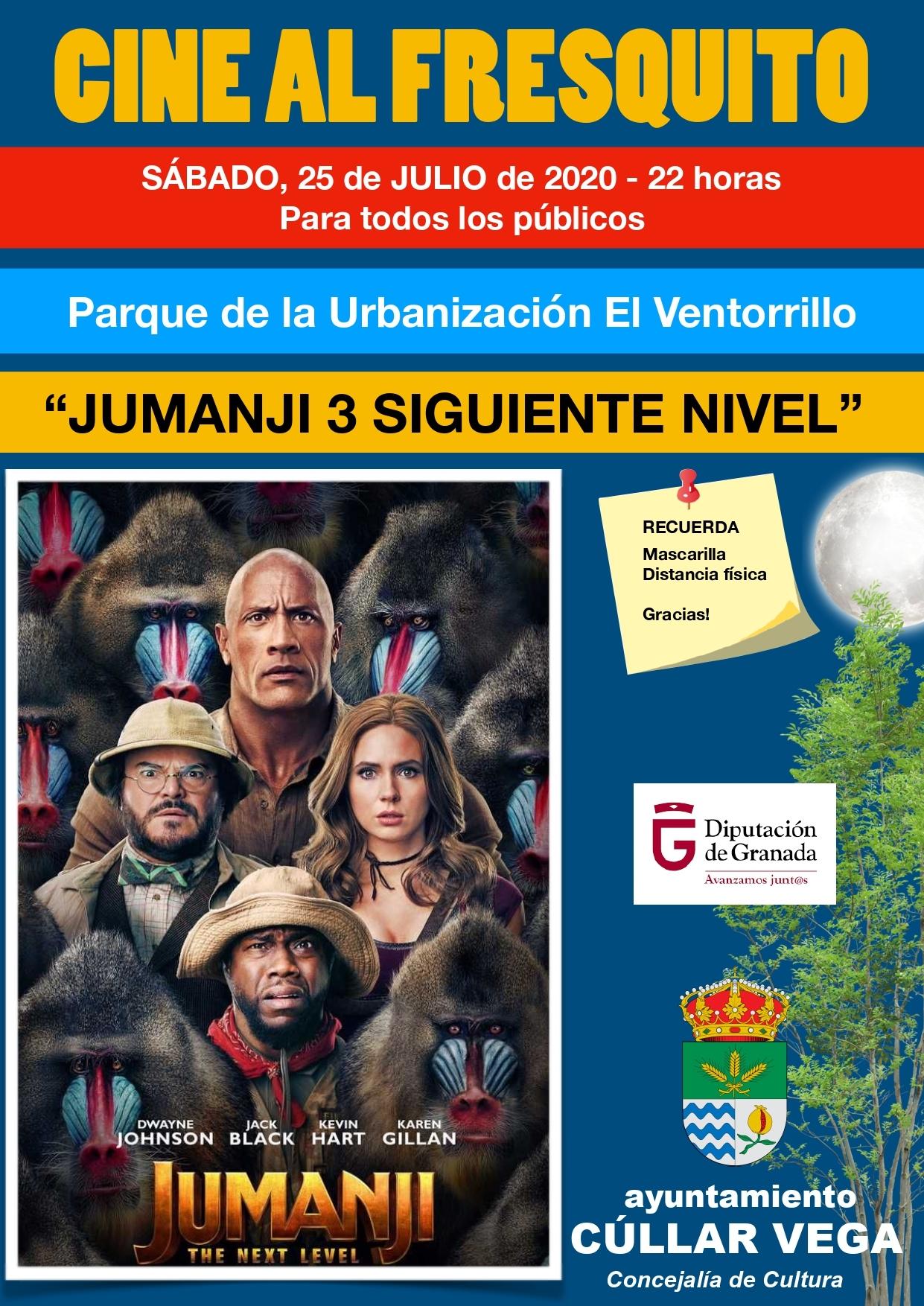 """Cine Al Fresquito """"Jumanji 3"""""""