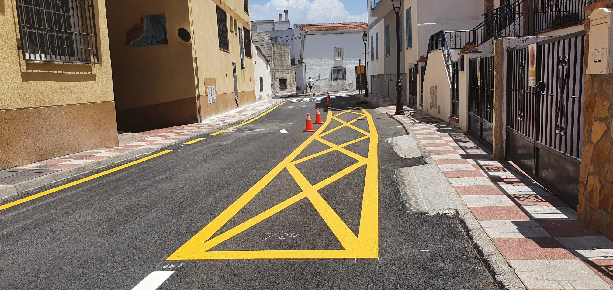 Cúllar Vega finaliza la reforma integral de la calle San Juan, una de las vías más transitadas del municipio
