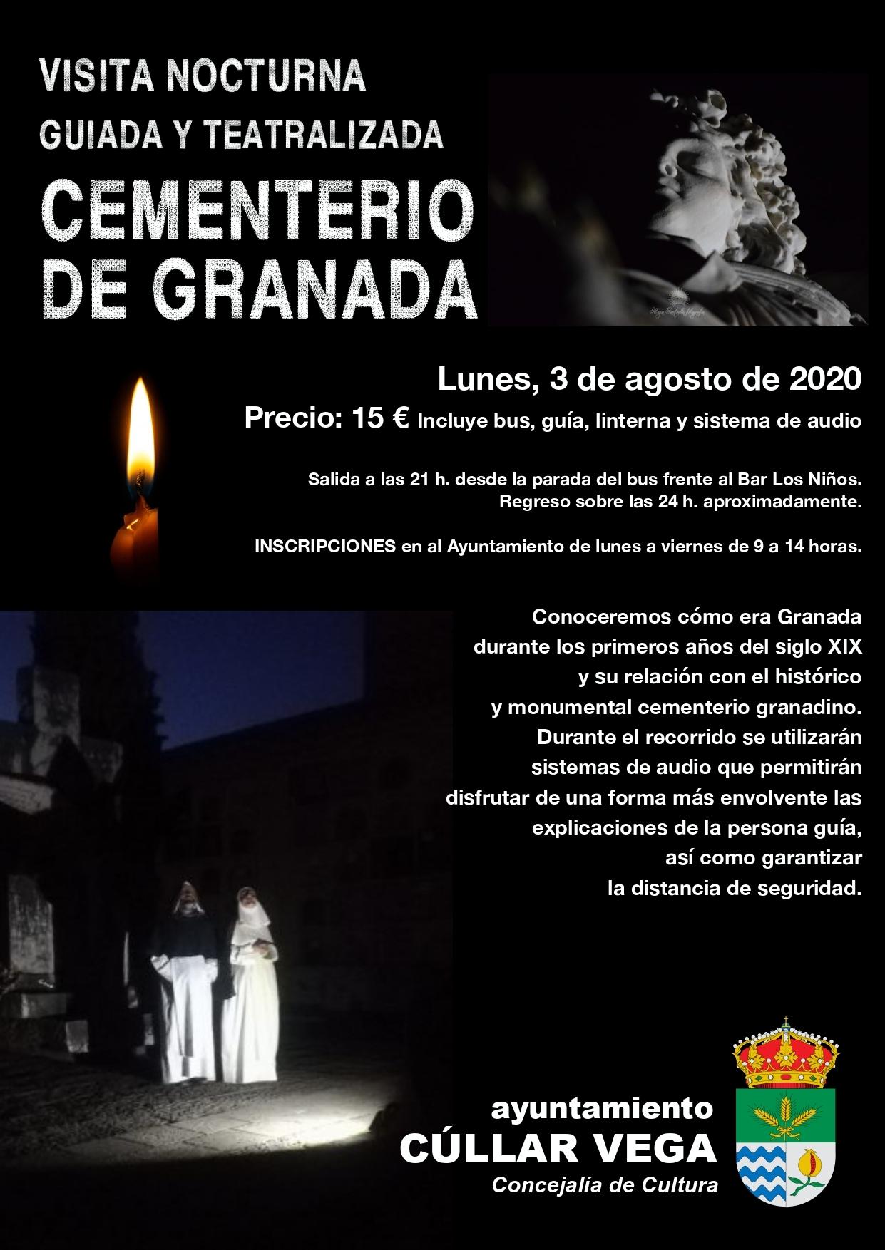 Visita nocturna, guiada y teatralizada al Cementerio de Granada