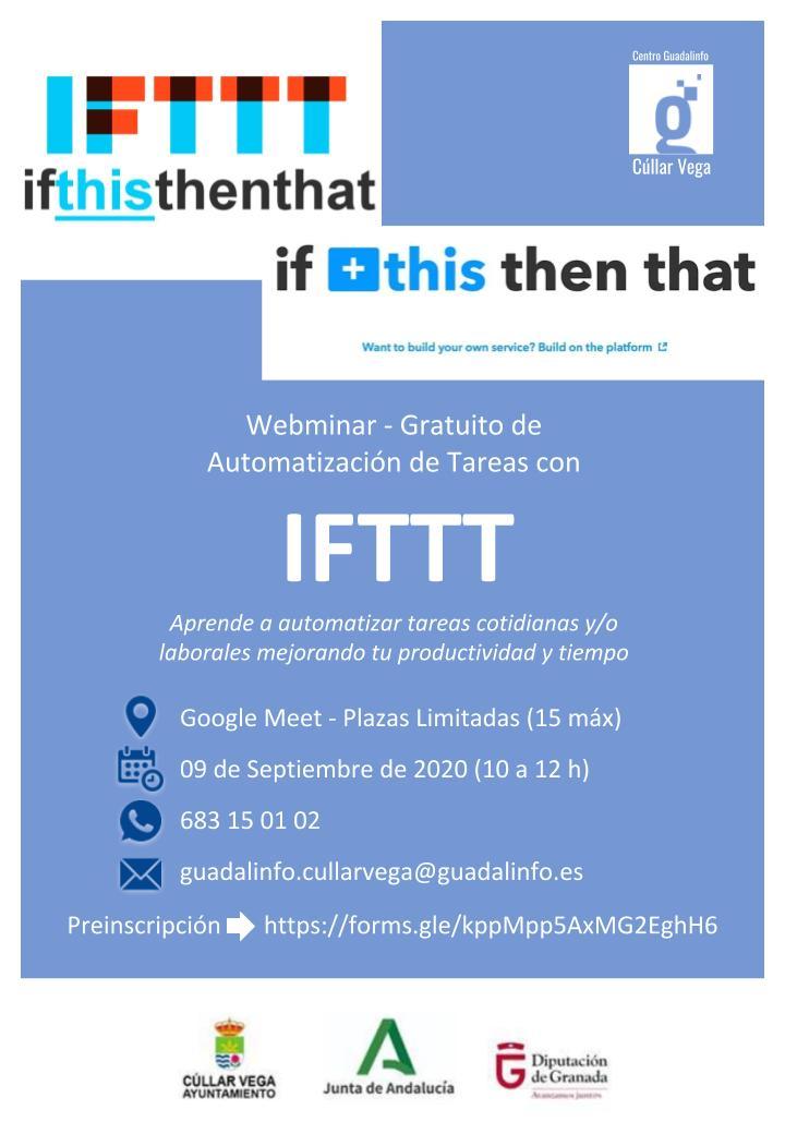 Webminar de Automatización de Tareas con IFTTT