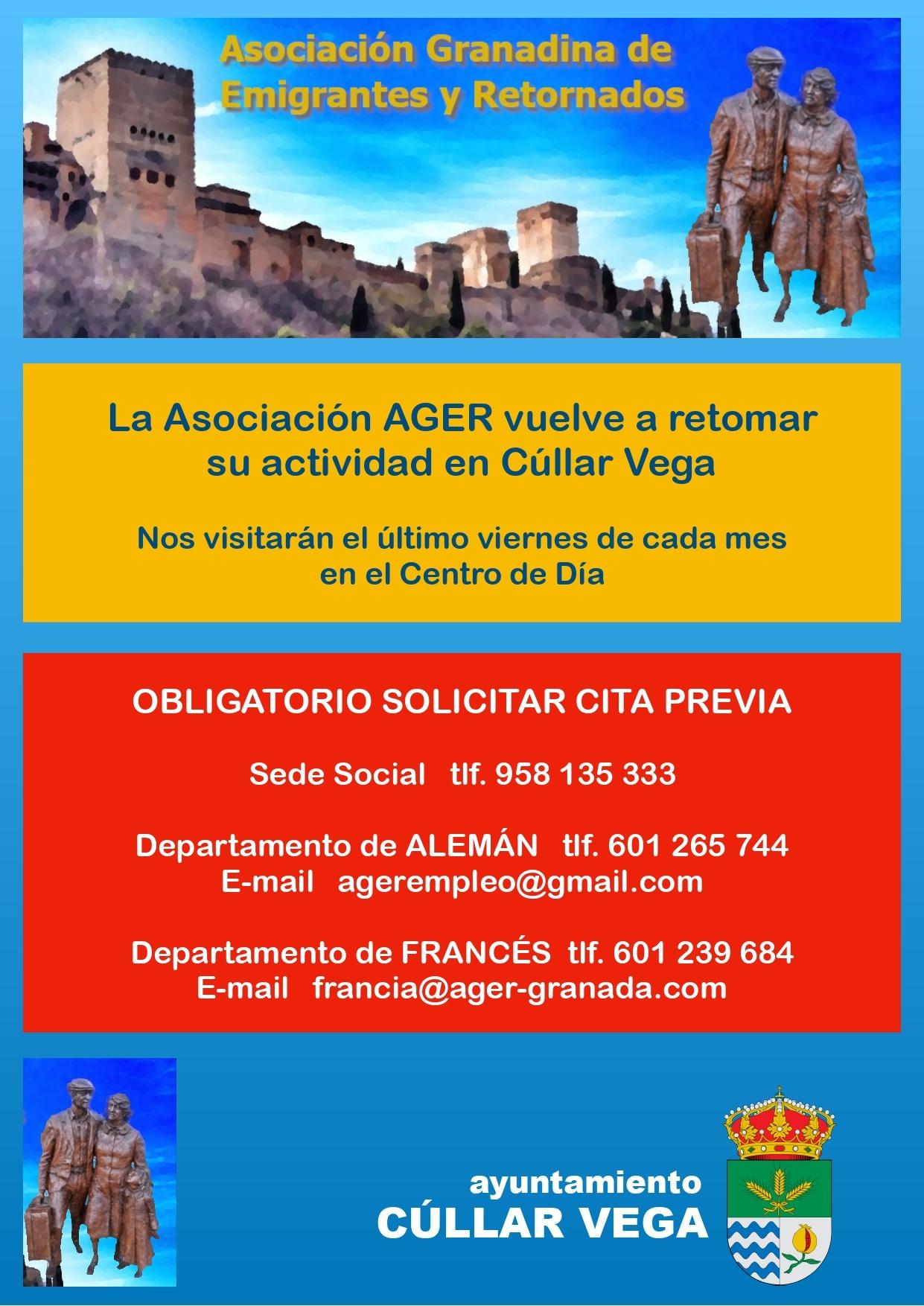 La Asociación Granadina de Emigrantes y Retornados vuelve a retomar su actividad en Cúllar Vega