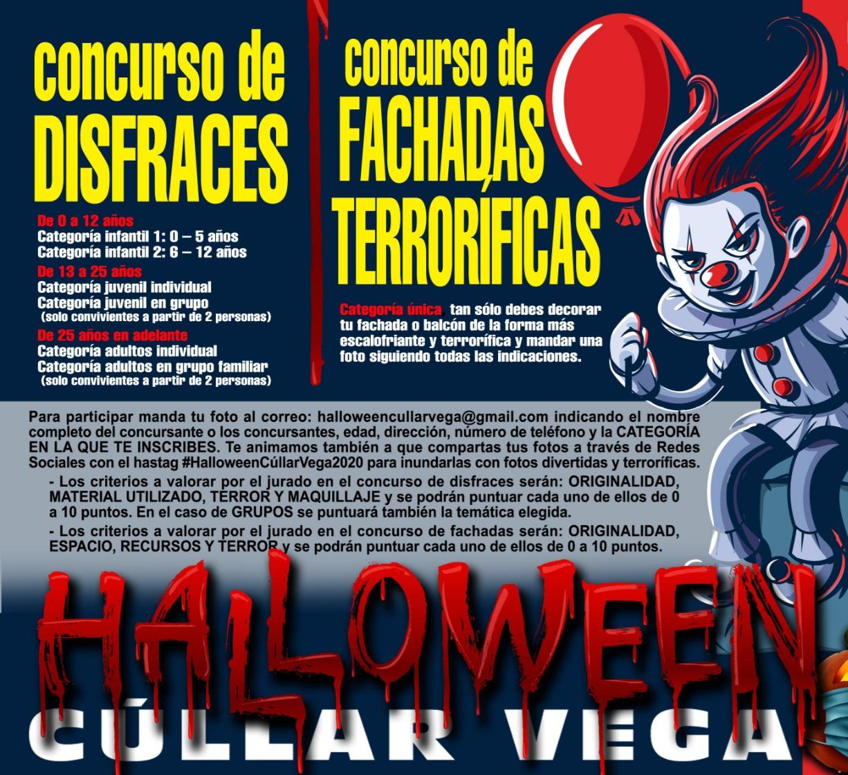 Cúllar Vega organiza un concurso de fachadas terroríficas y de disfraces para celebrar su primer Halloween virtual