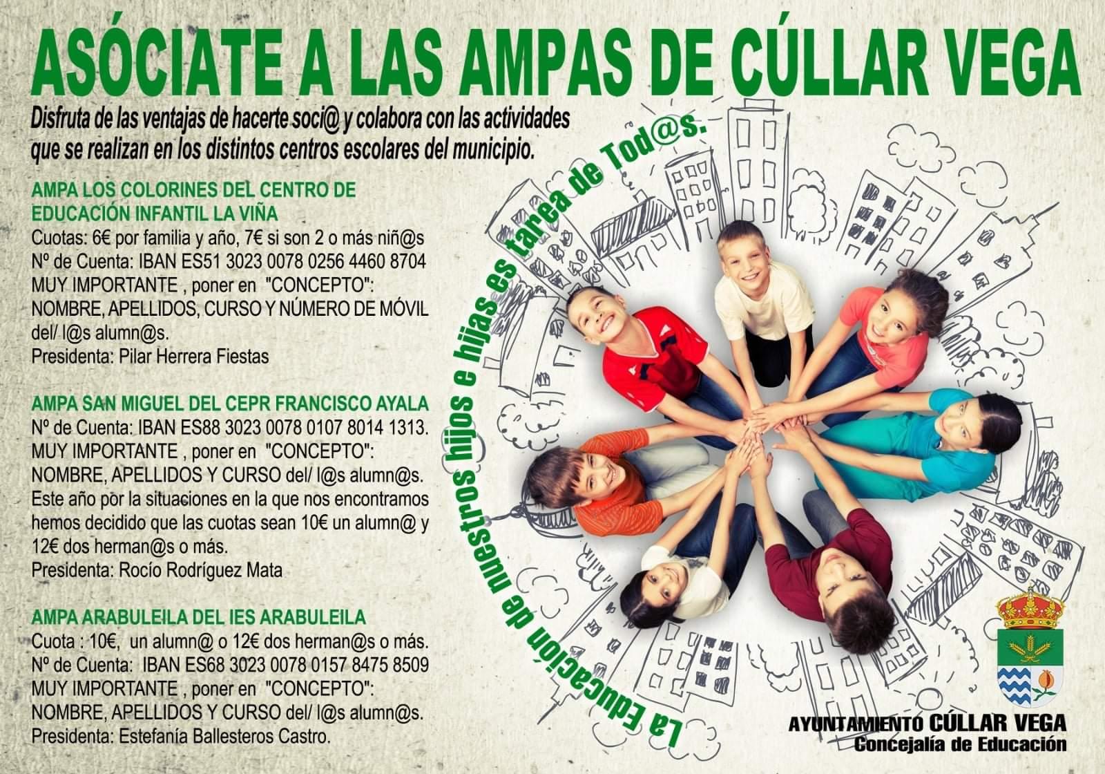 Asóciate a las AMPAS de Cúllar Vega