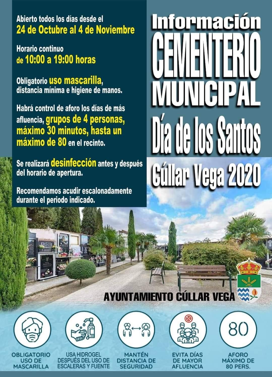 Información Cementerio Municipal para el Día de los Santos 2020