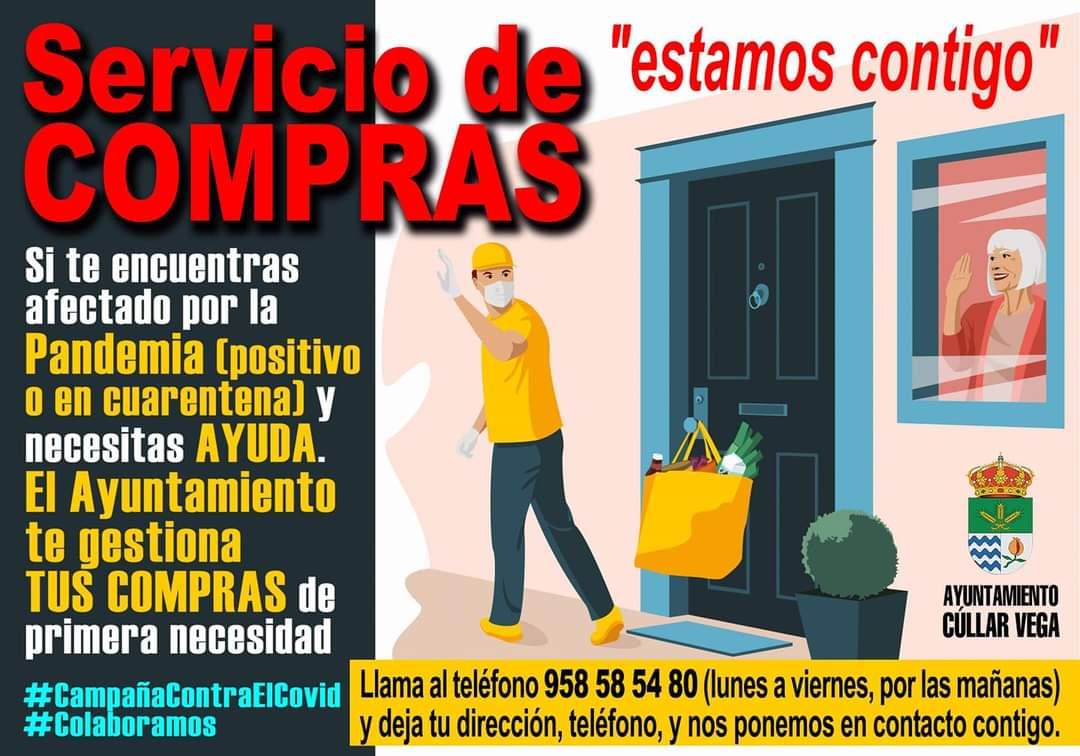 Cúllar Vega llevará la compra a casa a los vecinos en cuarentena por coronavirus
