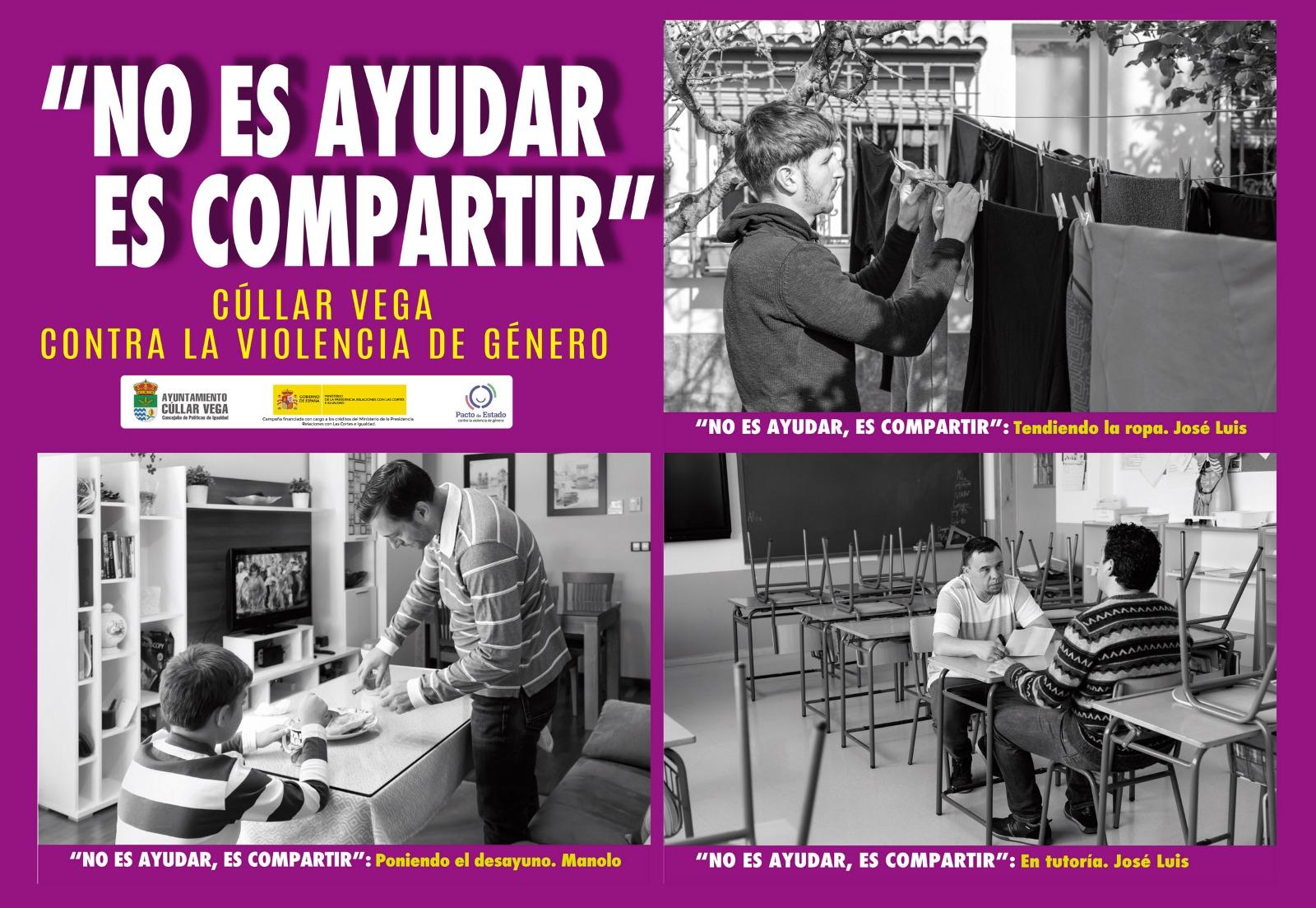 Cúllar Vega edita un calendario bajo el lema 'No es ayudar, es compartir' para promover nuevos modelos de masculinidad