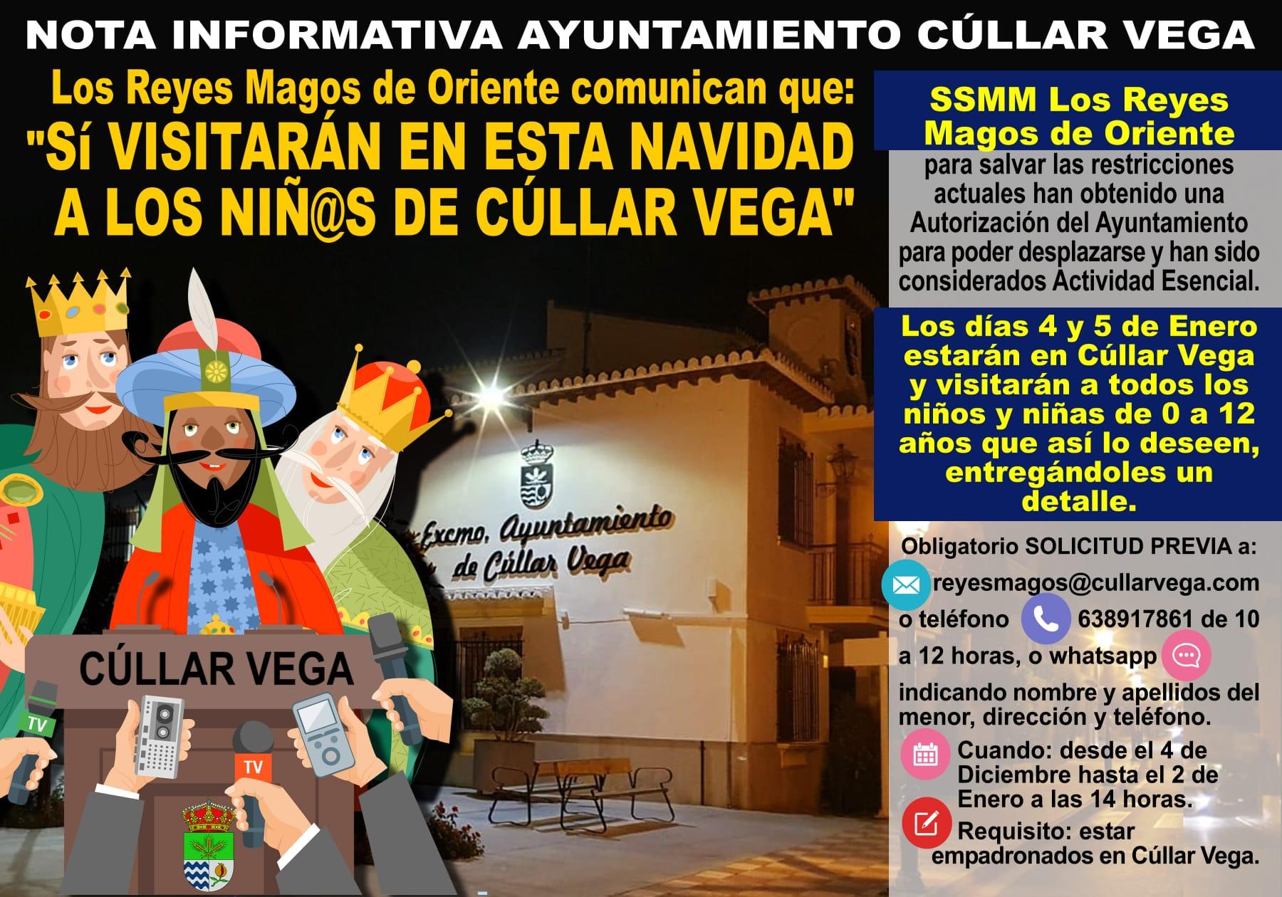 La actividad de los Reyes Magos será considerada como esencial en Cúllar Vega