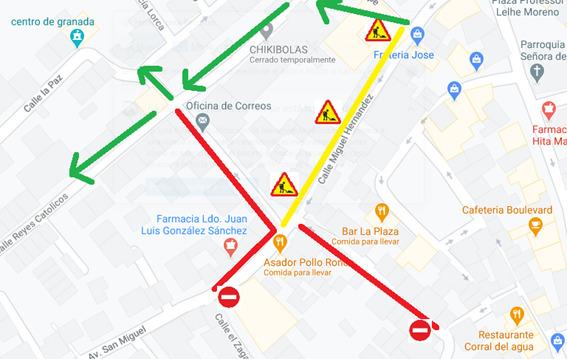 INFORMACIÓN: CORTE de TRÁFICO de Calles HORNO y MATADERO