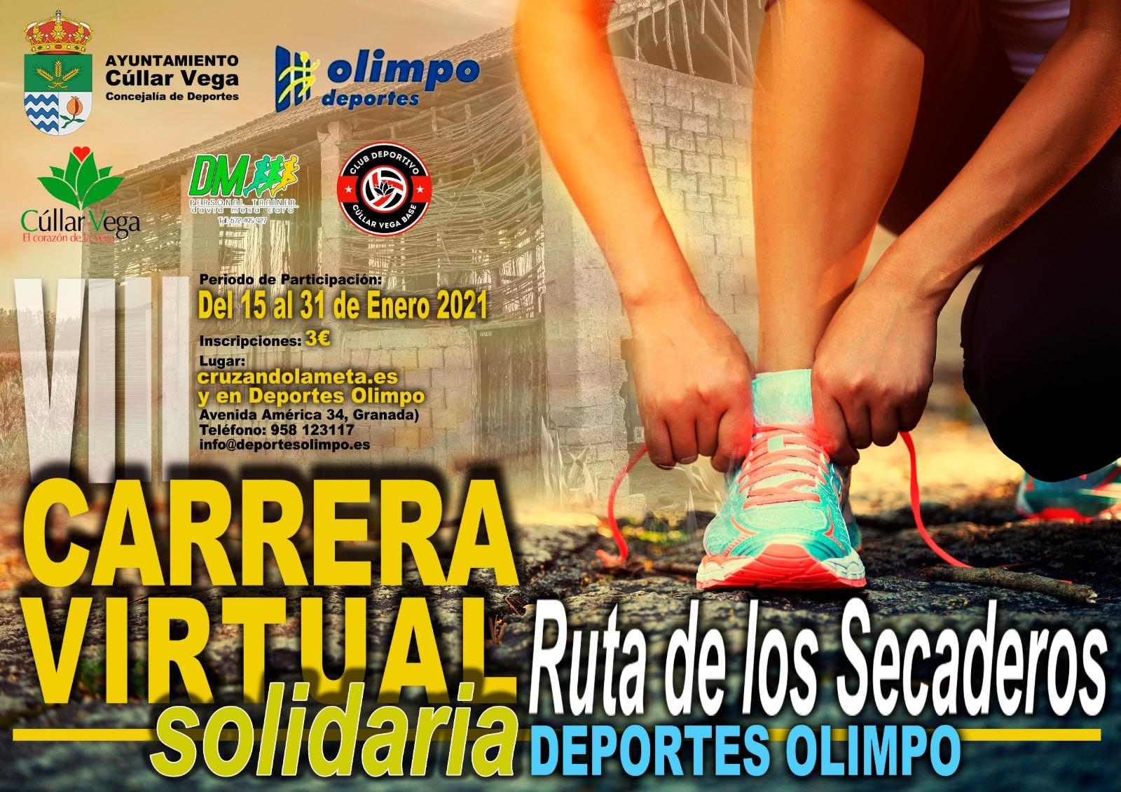 """VIII Edición Carrera Virtual Solidaria """"RUTA DE LOS SECADEROS-DEPORTES OLIMPO"""""""