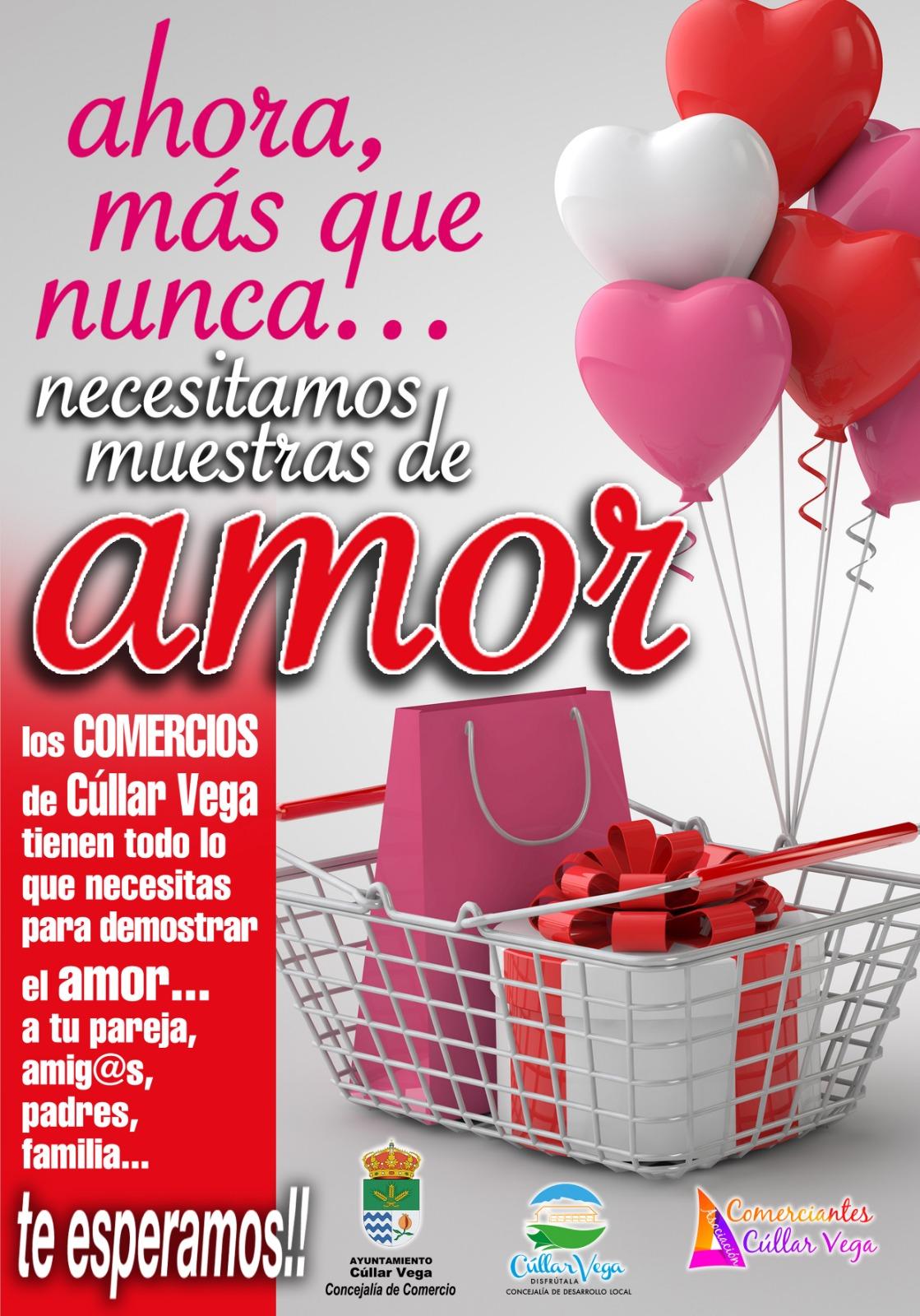En San Valentín compra en tu pueblo, compra en Cúllar Vega ❤️