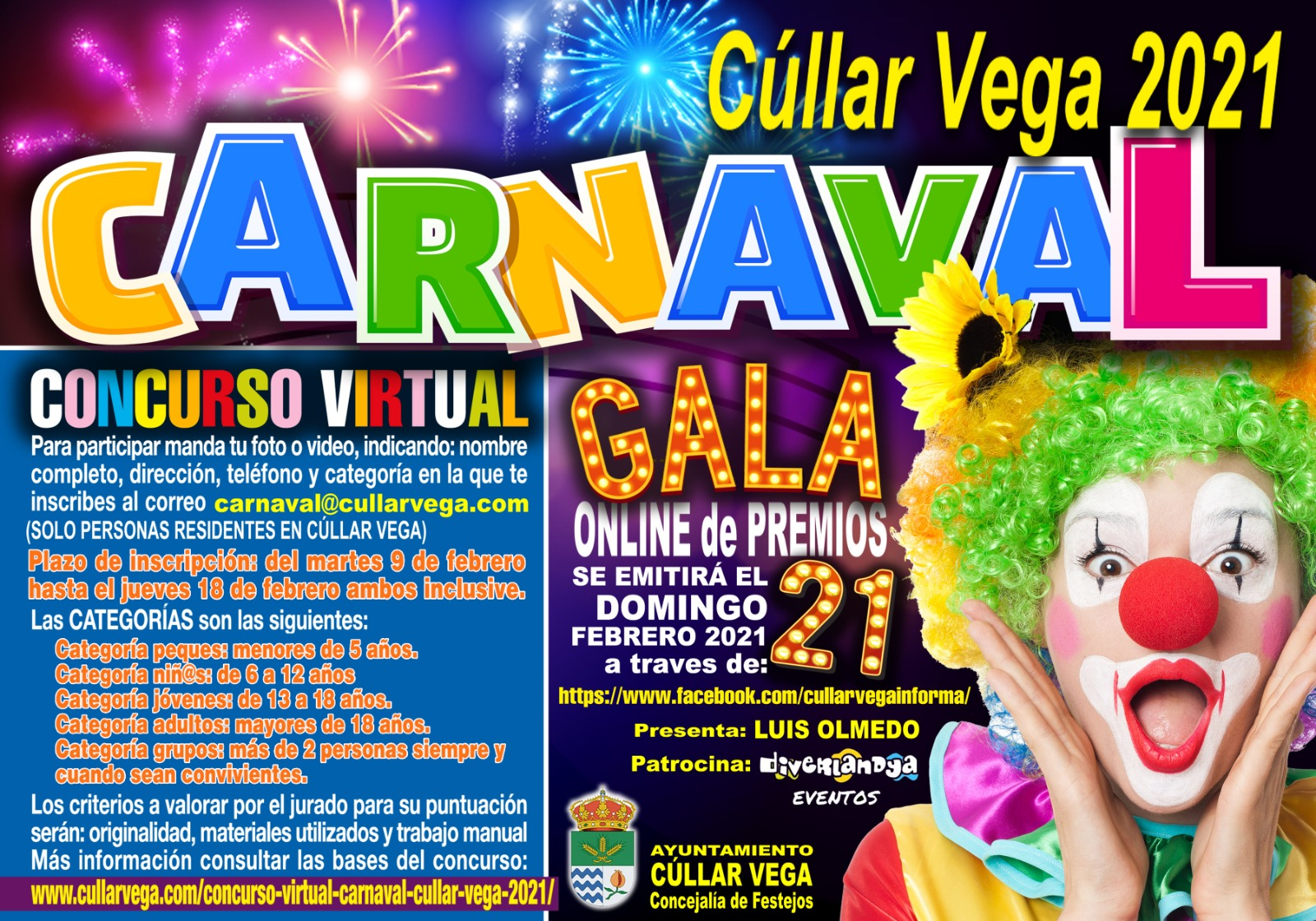 Concurso Virtual CARNAVAL Cúllar Vega 2021