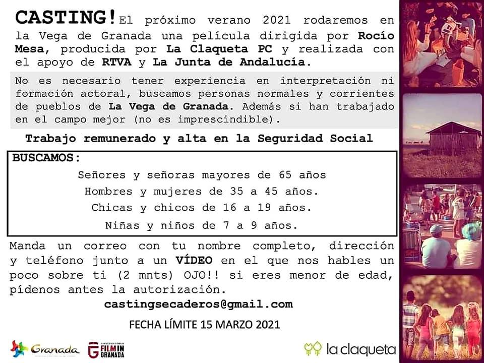 Abierto casting para proxima película que será rodada en la Vega de Granada