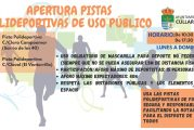Apertura de Pistas Polideportivas de Uso Público