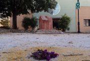 Una artista de Cúllar Vega instala las señales de 'Prohibido olvidar' y 'Punto del recuerdo' en el monolito en homenaje a Ana Orantes y Encarnación Rubio