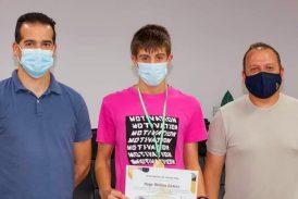 El nadador de Cúllar Vega Hugo Molina se proclama triple campeón de España en la categoría alevín