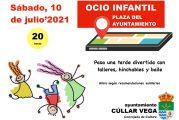 Ocio Infantil en la Plaza del Ayuntamiento el 10 de Julio
