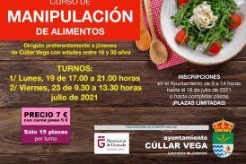 Cúllar Vega ofrece a sus jóvenes un curso de manipulador de alimentos para que puedan reciclarse profesionalmente