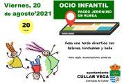 Ocio Infantil en el Paseo Jerónimo de Rueda el Viernes 20 de agosto.