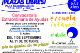 Convocatoria Extraordinaria de Ayudas para la Escuela Infantil Municipal