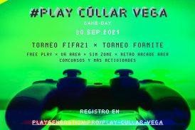 #PlayCúllarVega: Gameday con Torneo Fifa21 / Fornite, realidad virtual y mucho más....