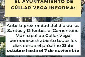 Horario Cementerio Municipal para el Día de Todos los Santos 2021