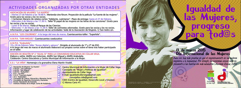 Día Internacional de las Mujeres Cúllar Vega 2015: Igualdad de las Mujeres, progreso para tod@s